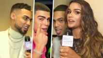 Myke Towers, Jay Wheeler y Lunay reciben a Clarissa en sus camerinos durante Premios Juventud
