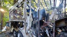 En Imágenes: así quedó un camión de tacos al encenderse en llamas en Winston-Salem