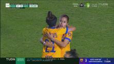 ¡Qué golazo! Natalia Gómez Junco se luce con el 2-0 de Tigres
