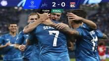 Zenit venció 2-0 al Lyon y quedó vivo en la Champions