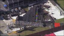 Se desploma parte de una tarima donde se llevará a cabo un concierto en Miami