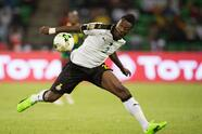 FRANCEVILLE, GABON - FEBRUARY 02: ASAMOAH GYAN of Ghana during the Semi Final match between Cameroon and Ghana at Stade Franceville on February 02, 2017 in Franceville, Gabon. (Photo by Visionhaus/Corbis via Getty Images)