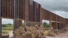 Parte del muro fronterizo de Trump se derrumba a causa de las fuertes lluvias