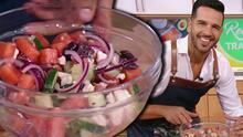 Receta que no da trabajo: Chef Yisus preparó una deliciosa ensalada griega con sandía y aguacate