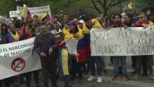 """Venezolanos en Nueva York se manifiestan pacíficamente por segundo día consecutivo tras la llamada """"Operación Libertad"""""""