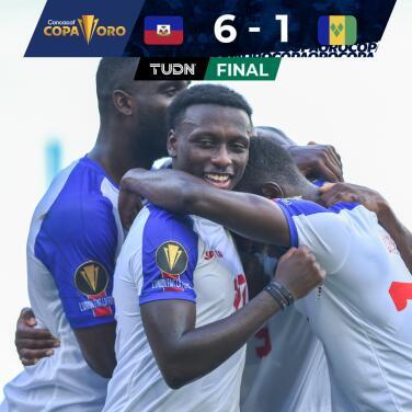 Haití aplastó a San Vicente y está a un paso de la Copa Oro