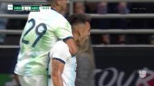 ¡GOOOL! Lautaro Martínez anota para Argentina