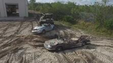 """Aplastar autos con un tanque, la """"diversión"""" de este peculiar parque de atracciones de Florida"""