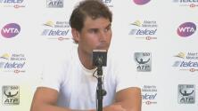 'Rafa' Nadal anunció que no jugará el Abierto Mexicano de Tenis a pocas horas de su debut