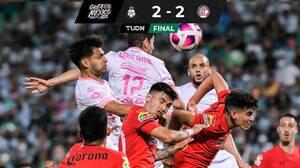 Santo gol del 'Mudo' Aguirre le da empate sobre el final