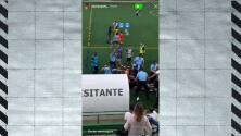 Con disparos al aire la policía neutraliza bronca en futbol de Portugal