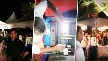 Salva la boda de sus amigos de un apagón usando generador eléctrico de su pickup