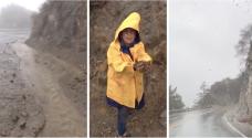 Derrumbes y deslaves en las carreteras de montañas en Los Ángeles