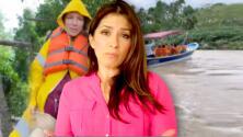 Alessandra Rosaldo sufrió los estragos del huracán Nora y tuvo que ser evacuada de emergencia