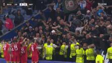 ¡Festejo eufórico! Osimhen rescata el agónico 2-2 del Napoli al 87'
