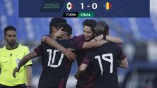 Resumen   México vence 1-0 a Rumania con un golazo del 'Canelo' Angulo