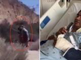 """""""Pensé que me quería descuartizar"""": indigente ataca con machete a hispano que pescaba con sus hijos en playa de Los Ángeles"""
