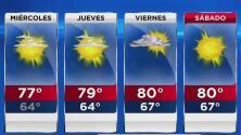 Cielo despejado, baja probabilidad de lluvia y mucha humedad este miércoles en Miami