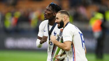 """Benzema: """"Tenía muchas ganas de ganar un trofeo con Francia"""""""