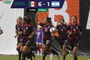 Resumen | En polémico partido, el Tri femenil aplasta a Argentina