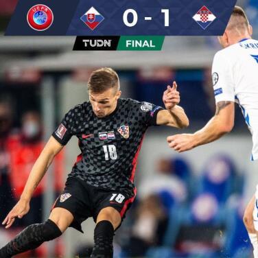 Brozovic salvó a Croacia en Eslovaquía y sueñan con Qatar 2022