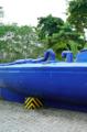 Narcosumergible usado por los guardacostas de Colombia para disuadir a la gente de la zona de no embarcarse en la aventura de la droga.