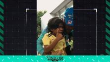 ¡Felicidad total! Niño colombiano llora por conocer a Neymar