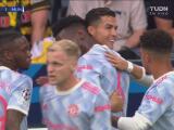 ¿Quién más? Aparece Cristiano Ronaldo para el 0-1 de Manchester United