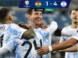 Argentina golea 4-1 a Bolivia y termina como primero del Grupo A