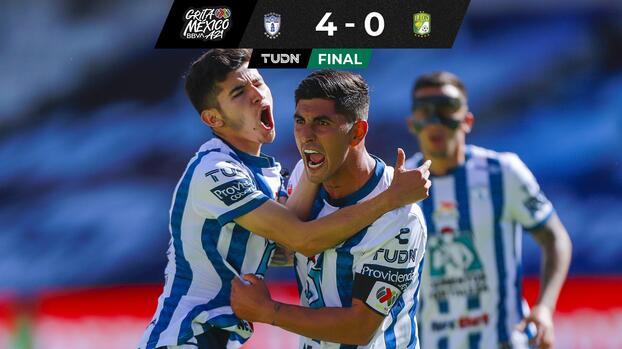 ¡Fiera domada! Pachuca debuta con goleada en casa sobre León