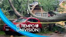 Varias familias siguen sin electricidad tras el paso de un posible tornado que tocó tierra al norte de Houston