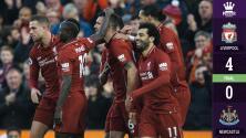 Liverpool aplastó al Newcastle y es más líder que nunca
