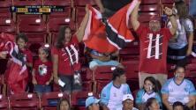 ¡GOL!  anota para Trinidad and Tobago. Reon Moore