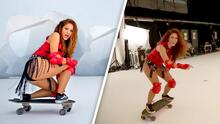 Con video inédito, Shakira prueba que corrió patineta en 'Girl Like Me' y no se trató de un efecto especial