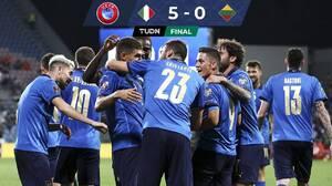Italia golea a Lituania y da un gran paso rumbo a Qatar 2022