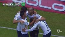 Gran volea de Carlos González para el 1-0 de Pumas
