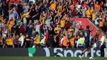 Impresionante ovación a Jiménez tras su gol ante Southampton