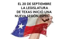 El 20 de septiembre la Legislatura de Texas inicia una nueva sesión especial