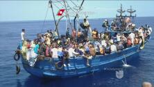 Migrantes desesperados por llegar a la Unión Europea