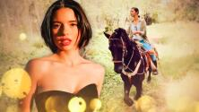 """""""Pareces una emperatriz"""": Ángela Aguilar asombra a su hermano con la forma de cabalgar en el """"campo de batalla"""""""