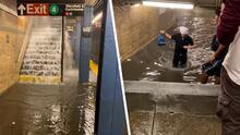 Lluvias y tormentas eléctricas provocan grandes inundaciones en subways de NYC