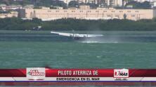 Piloto de 68 años aterriza de emergencia en el mar