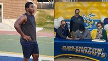 Leslie Adindu, el inmigrante desamparado que firmó beca para jugar futbol americano... sin jugar
