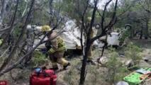 Accidente aéreo deja tres personas heridas en Austin