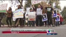 Estudiantes se manifiestan ante aumento en las colegiaturas