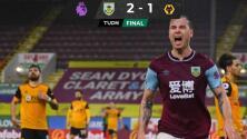 El Wolverhampton sufre la ausencia de Raúl Jiménez y cae ante el Burnley