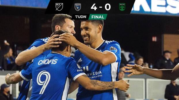 ¿Milagro? Con goles de Chofis y Fierro, SJ Earthquakes golea a Austin FC