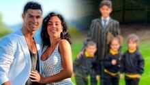 Los hijos de Cristiano Ronaldo y Georgina Rodríguez empiezan las clases en su lujosa escuela en Manchester