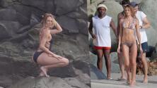 Candice Swanepoel enciende el Caribe con sesión fotográfica en bikini