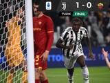Juventus, con gol de Kean, venció a la Roma de Mourinho